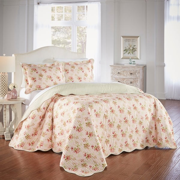 Waverly Cedar Grove 3 Piece Bedspread Set. Opens flyout.