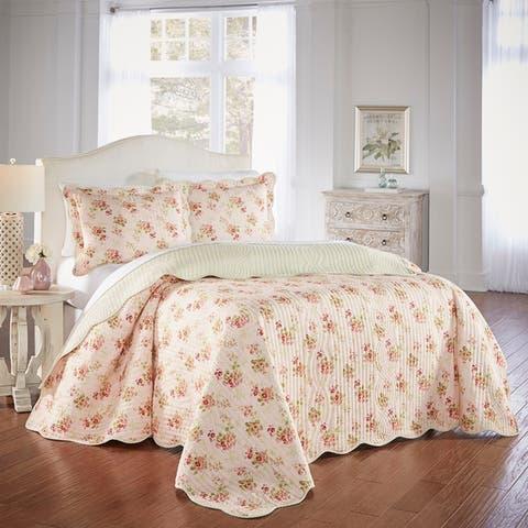 Waverly Cedar Grove 3 Piece Bedspread Set