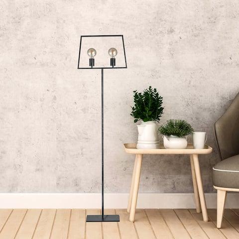 Carbon Loft Casselman Old Silver 2-light Floor Lamp