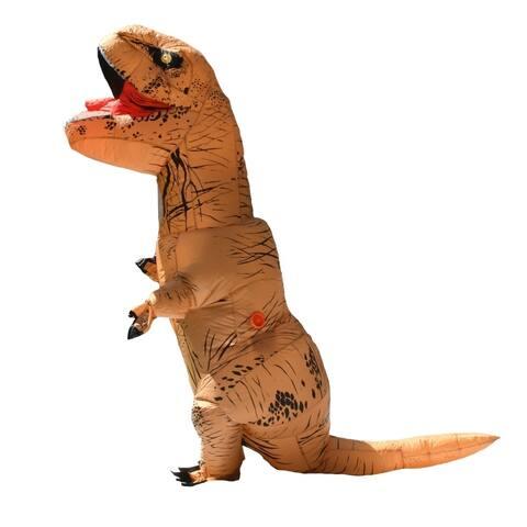 ALEKO Adult Sized Halloween Inflatable Dinosaur Party Costume Tyrannosaurus Rex