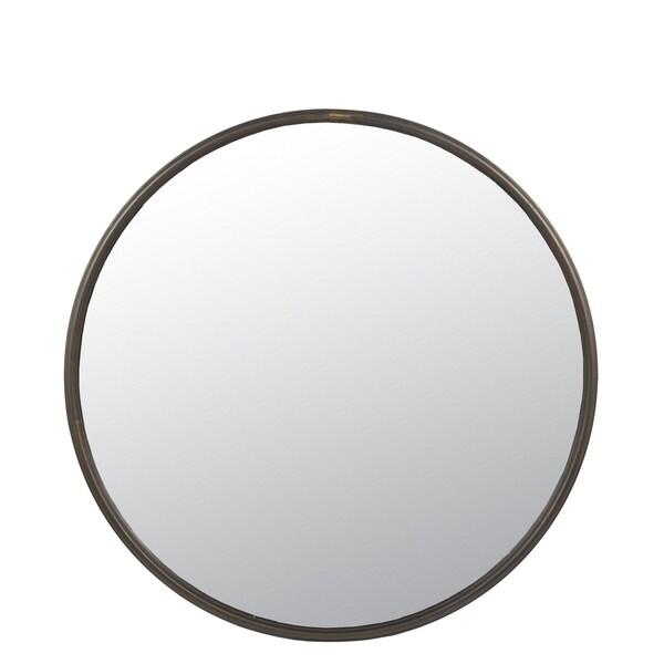 Privilege Large Antique Bronze Metal Wall Mirror. 31.5x2x31.5