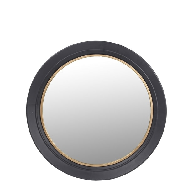 Privilege Small Gunmetal and Gold Wall Mirror. 23.5x2x23.5