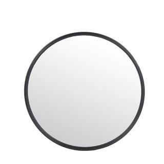 Privilege Small Black Metal Wall Mirror. 24x2x24