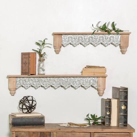 Wooden wall shelves (Set/2)
