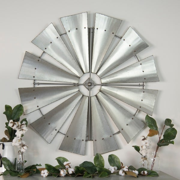 """Metal windmill décor 46"""""""