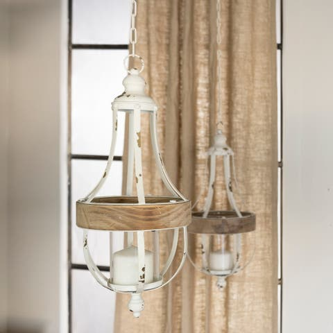 Wood/metal hanging décor (Set/2)