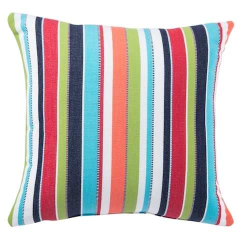 Santee Indoor/ Outdoor Stripes Throw Pillow