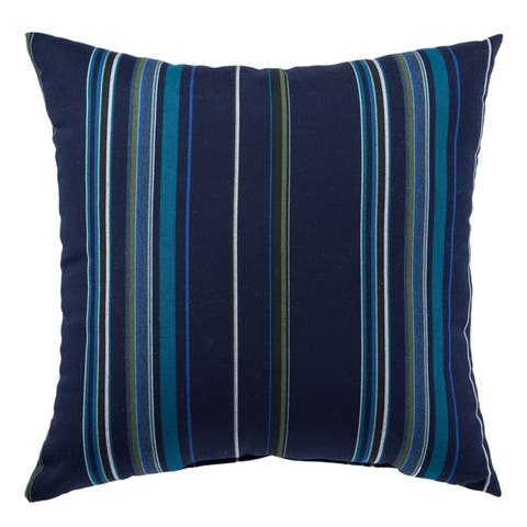 Sinclair Indoor/ Outdoor Stripes Throw Pillow