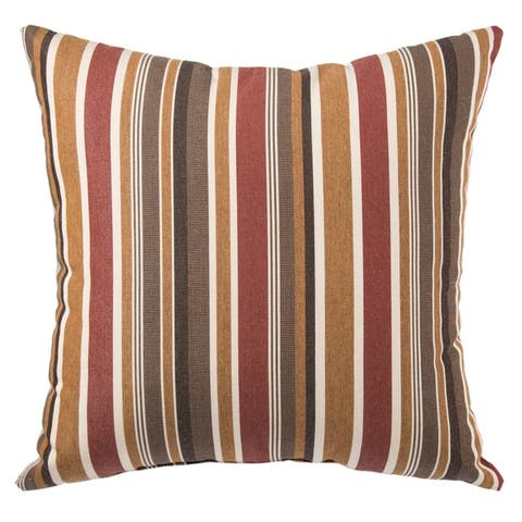 Portico Indoor/ Outdoor Stripes Throw Pillow