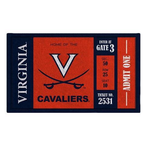 NCAA 30-inch x 18-inch Vinyl Indoor/Outdoor Turf Floor Mat