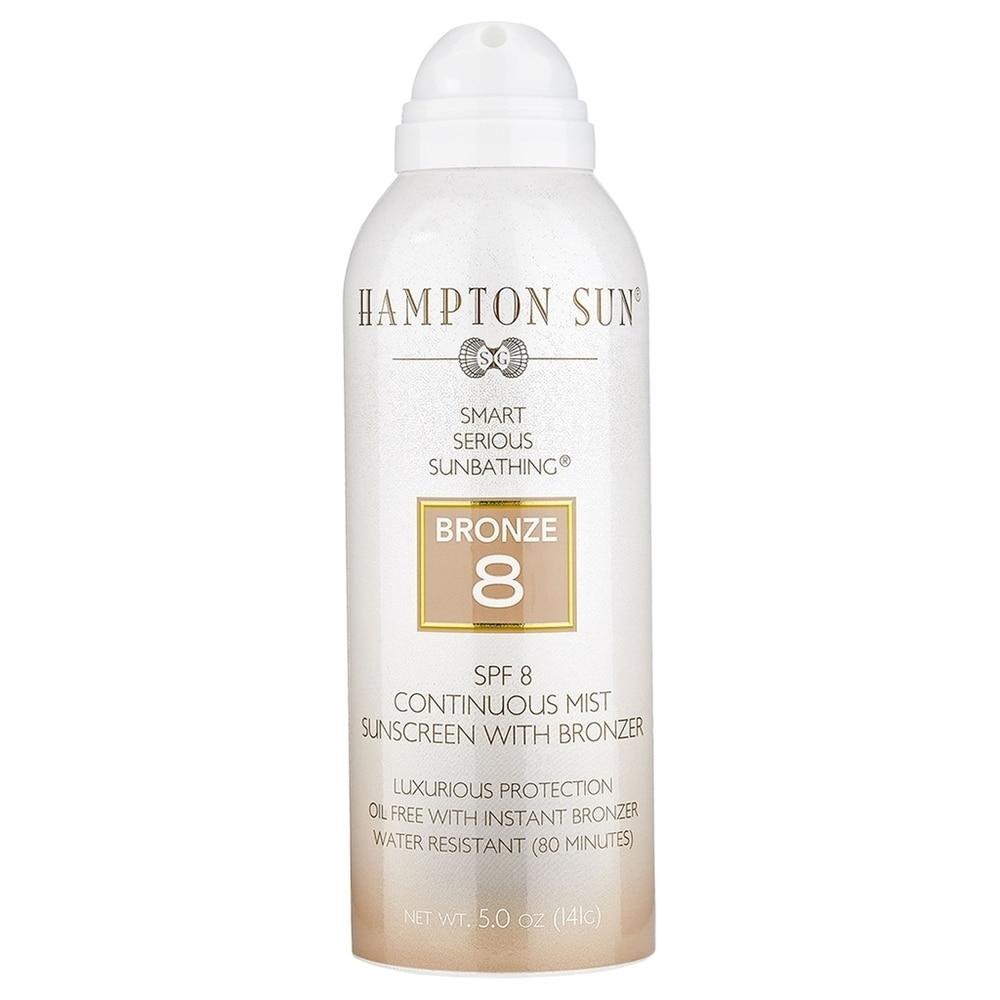 Hampton Sun SPF 8 Bronze Continuous Mist 5 oz (White/Beige - Body Sunscreen)