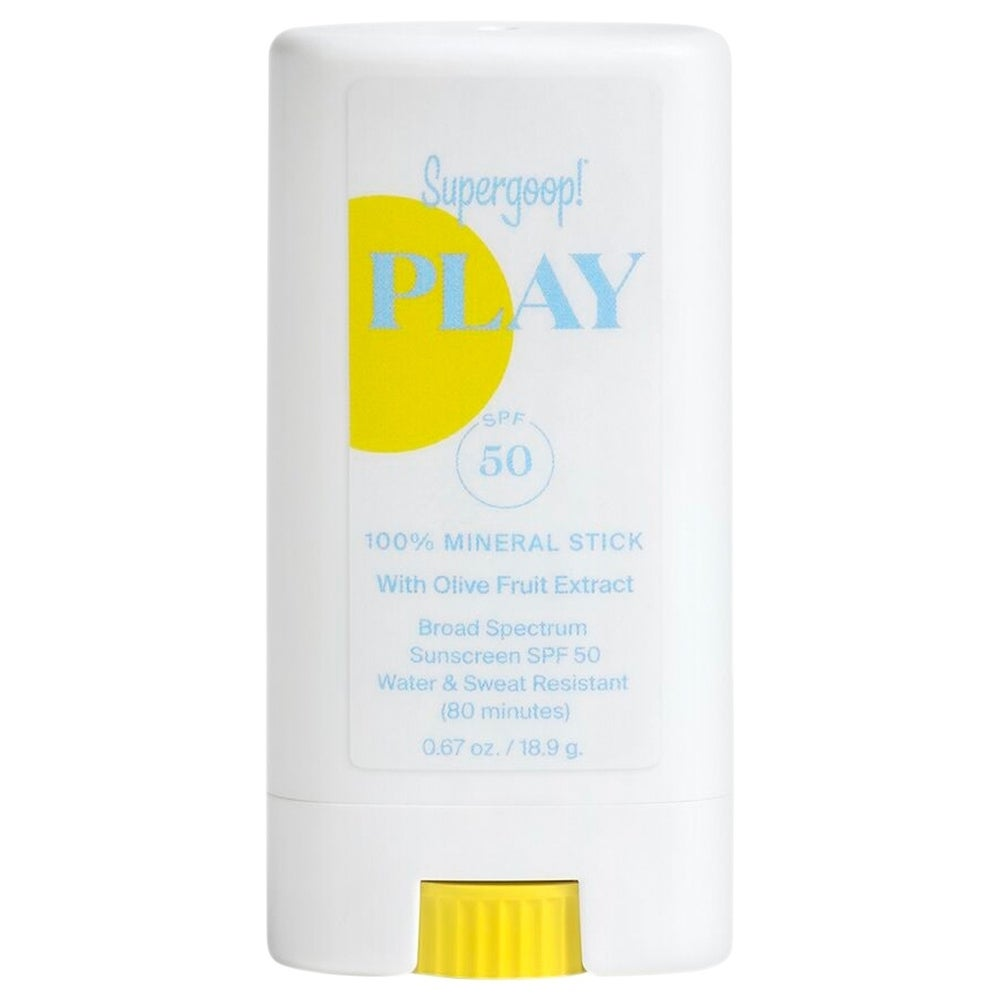 Supergoop 100% Mineral Sunscreen Stick with Olive Fruit Extract 0.67 oz (White/Blue - Facial Sunscreen)