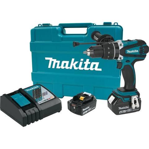 """Makita 18V LXT® Lithium-Ion Cordless 1/2"""" Hammer Driver-Drill Kit (4.0Ah)"""
