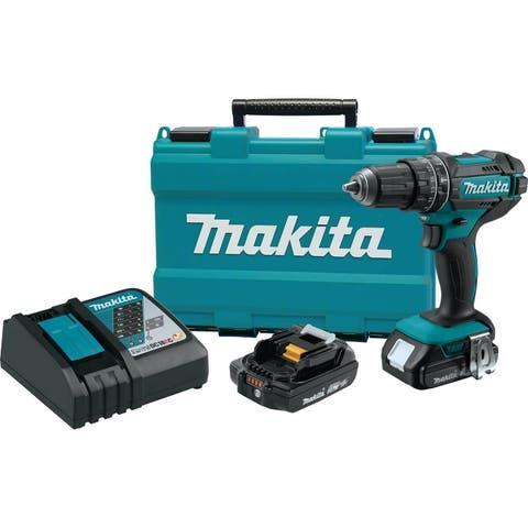"Makita 18V LXT® Lithium-Ion Compact Cordless 1/2"" Hammer Driver-Drill (2.0Ah)"