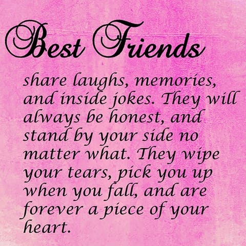 CANVAS Best Friends Quote Textual Art