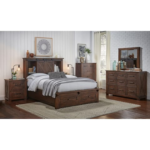 Simply Solid Shelba Solid Wood 4-piece Storage Bedroom Collection