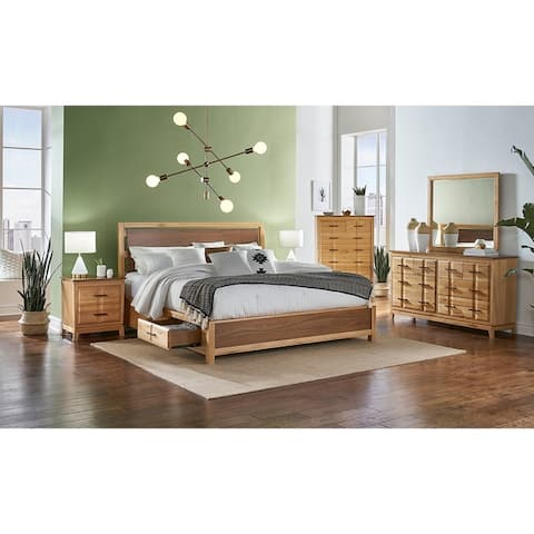 Simply Solid Marsanne Solid Wood Storage Panel Bed