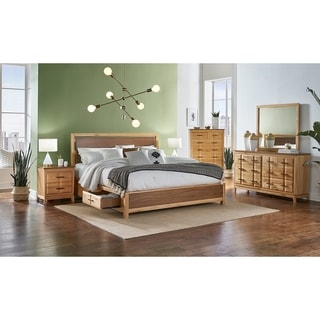 Simply Solid Marsanne Solid Wood 4-piece Storage Bedroom Collection