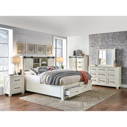 Simply Solid Shanna Solid Wood 5-piece Storage Bedroom Collection