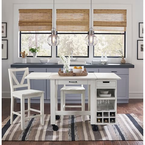 Simply Solid Duncan Solid Wood 3-piece Dining Island Collection