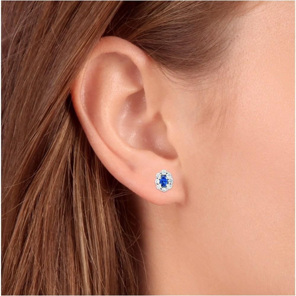 Details about  /4Ct Heart Cut Blue Sapphire /& Diamond 14k White Gold Finish Dangle Earring