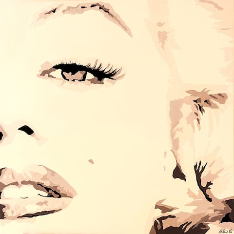 CANVAS She Knows Marilyn Monroe by PopArtQueen