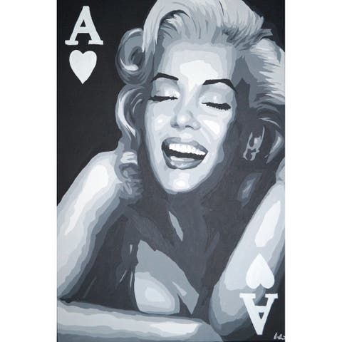 CANVAS Marilyn Monroe Ace Card by PopArtQueen - 48x36