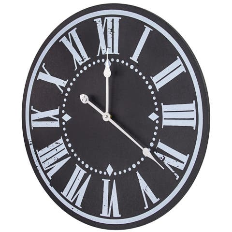 Oversized Vintage MDF Hanging Wall Clock 24""