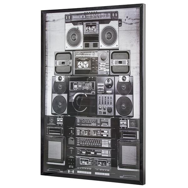"Vintage Boombox Stereo Framed Photo Art Print 37"" x 25"""