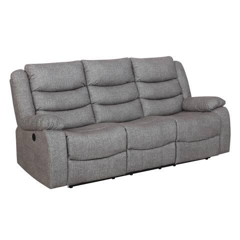 Granada Grey Dual Recliner Sofa with Power Footrest