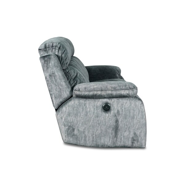 LARGE TANGO CORNER OR 3+2 SEATER SOFA IN BLACK AND GREYFOOTSTOOL