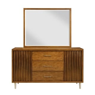 Bamboo Wave Brown 3-drawer Dresser