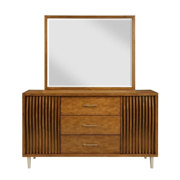 Bamboo Wave Brown 3-drawer Dresser
