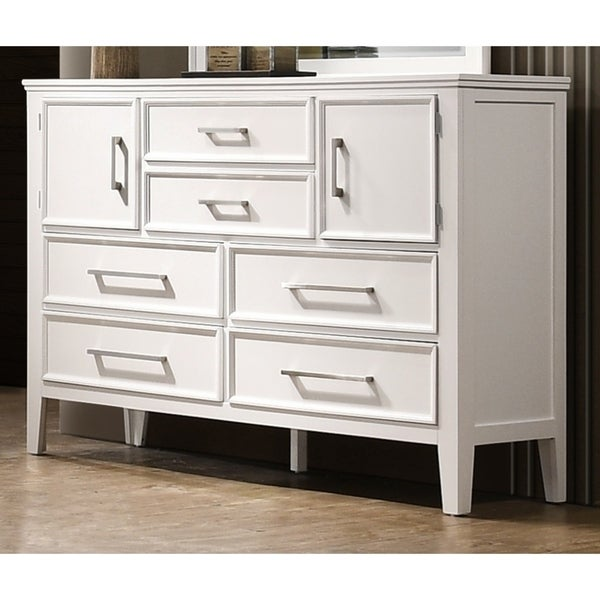 Andover White 6-drawer and 2-door Dresser