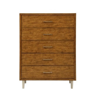 Bamboo Wave Brown 5-drawer Chest