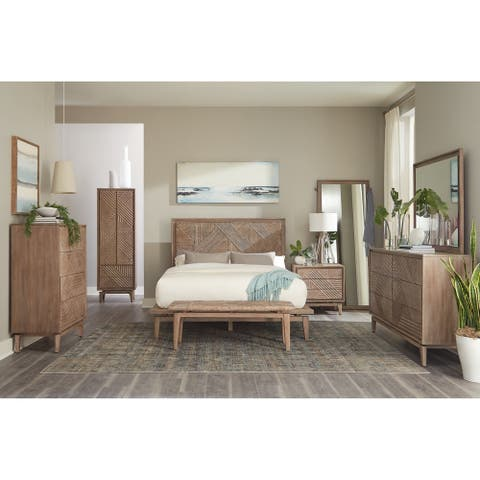 Carson Carrington Hjallbo Sandstone 5-piece Bedroom Set