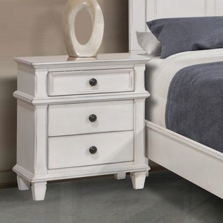 The Gray Barn Avalon Antique White 3-drawer Nightstand
