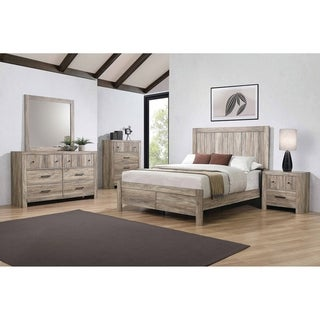 Link to Carbon Loft Wyverna Rustic Oak 4-piece Bedroom Set Similar Items in Bedroom Furniture