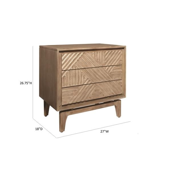 Carson Carrington Hjuvik Sandstone 3-drawer Nightstand