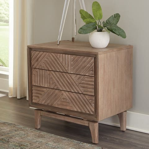 Carson Carrington Hjuvik Sandstone 3-drawer Nightstand