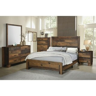 Carbon Loft Romang Rustic Pine 4-piece Bedroom Set