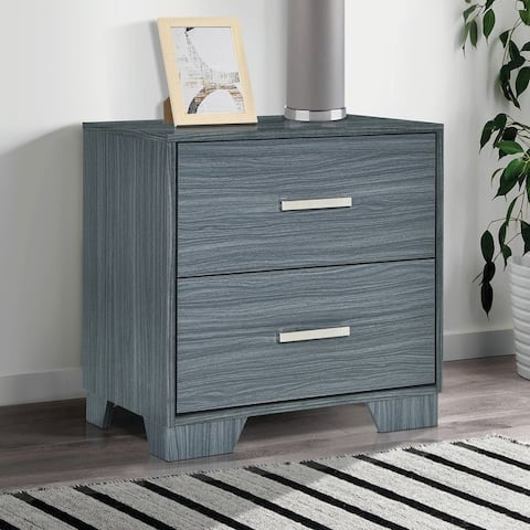 Porch & Den Augustine Dark Grey Oak 2-drawer Nightstand