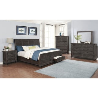 The Gray Barn Mansfield Park Weathered Carbon 4-piece Bedroom Set
