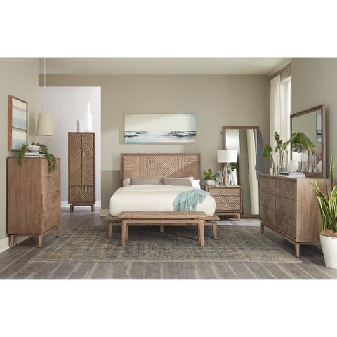 Carson Carrington Hjallbo Sandstone 4-piece Bedroom Set
