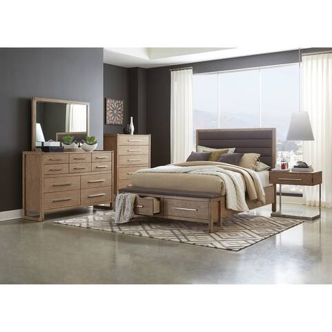 Strick & Bolton Ingram Grey Oak 5-piece Bedroom Set