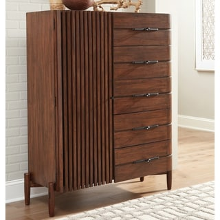 Carson Carrington Hjulsta Teak 5-drawer Door Chest