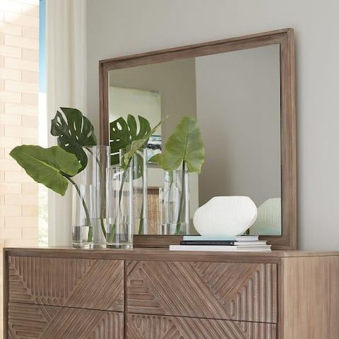 "Carson Carrington Hjassa Rectangular Dresser Mirror - Sandstone - 37.25"" x 1.50"" x 46"""