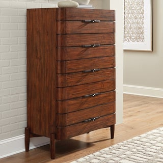 Carson Carrington Hjulsta Teak 5-drawer Chest