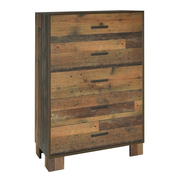 Carbon Loft Romang Rustic Pine 5-drawer Chest