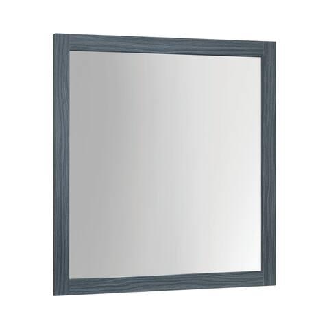 "Porch & Den Augustine Dark Grey Oak Bedroom Mirror - Dark Grey Oak - 39.75"" x 1.25"" x 39.50"""